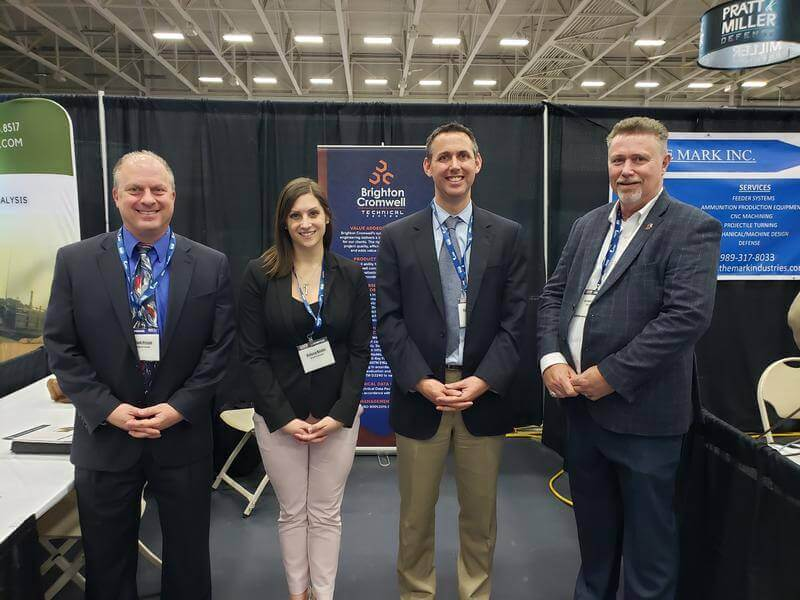 Brighton Cromwell Team at the Michigan Defense Exposition (MDEX) in April 2019