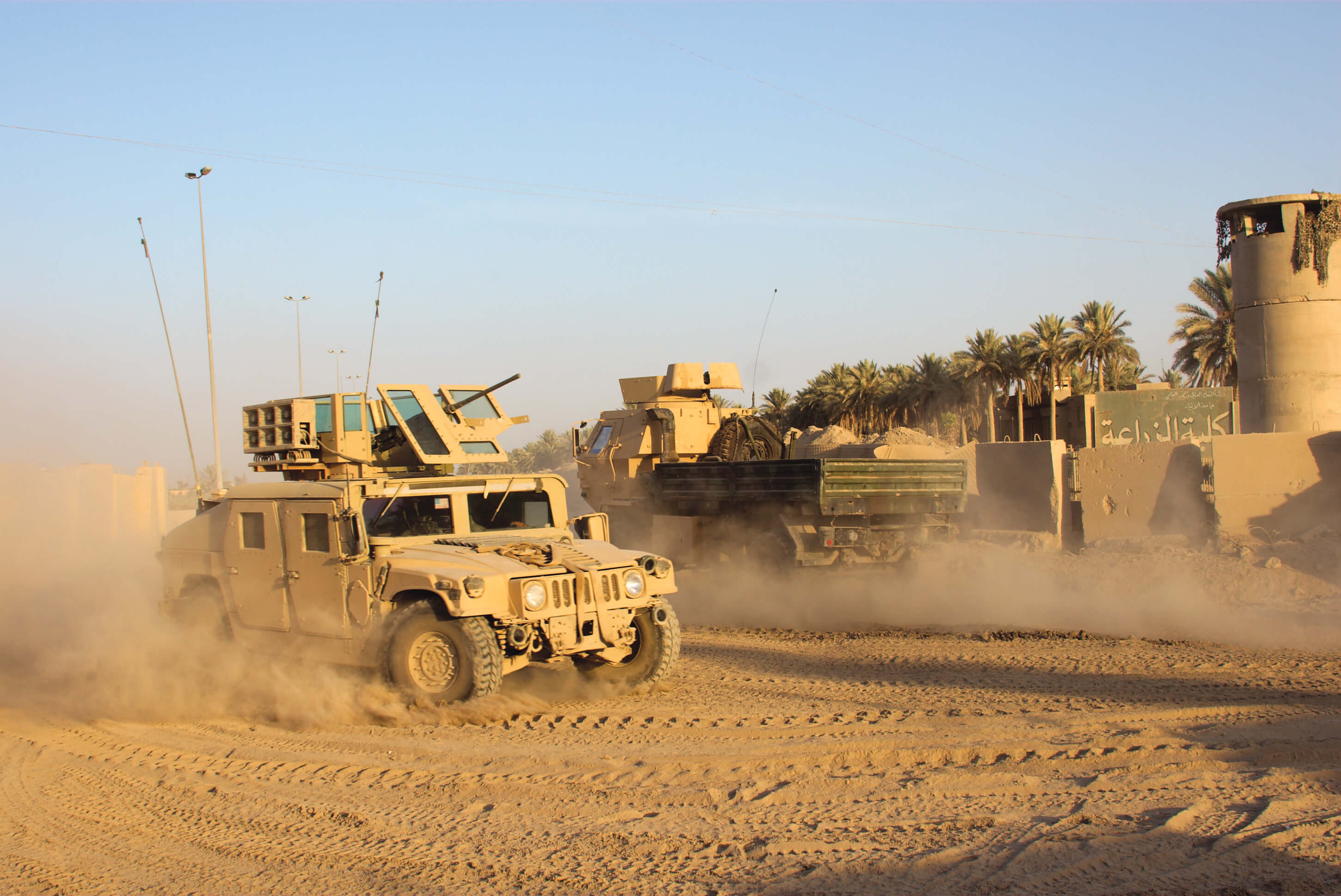 View of Armored HMMWV in Iraq.